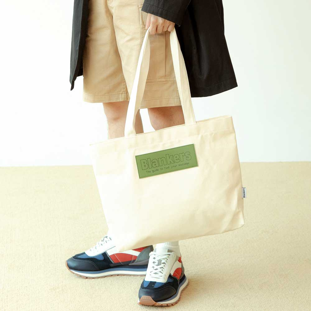 [20%SALE] Blankers Basic Canvas Bag (wh-gr)